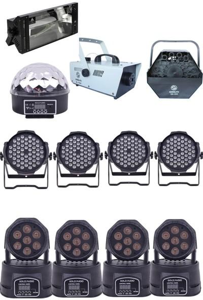 Quenlite Free Paket-7 Sahne Işık Sistemi Seti ( Top Küre Led Par Moving Head Robot)