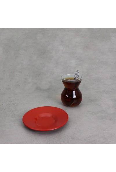 Galvaniz Çay Tabağı 11 Cm Kırmızı