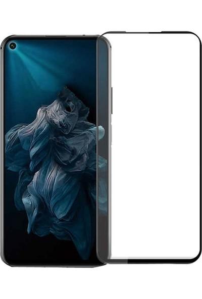 Gpack Huawei Nova 5T Full Kapatan Renkli Cam Tam Koruma Siyah