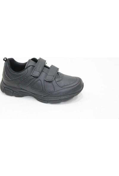 Jump 16203-B Siyah Cırtlı Spor Ayakkabı