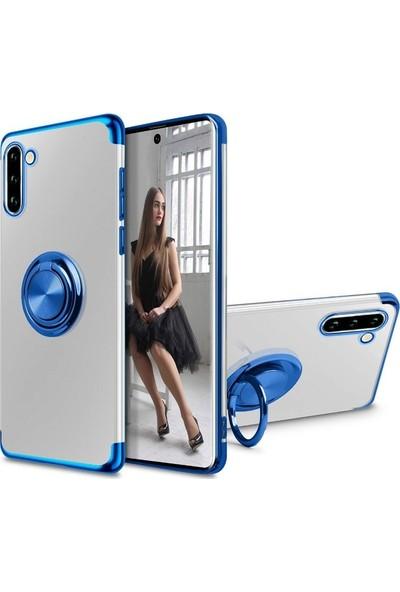 Case Street Samsung Galaxy S20 Plus Kılıf Gess Yüzüklü Mıknatıslı Silikon Siyah