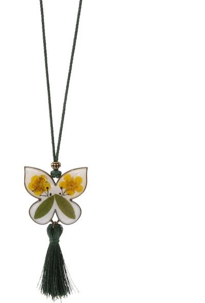 Halley Concept Özel El Yapımı Çiçek Tasarım Reçine Kadın Kolye