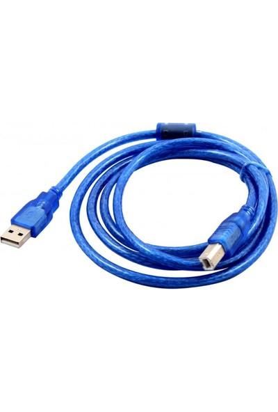 Concord 1 Metre USB Yazıcı Kablosu Mavi