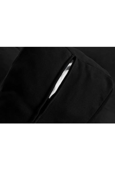 Minderim İç Mekan Palet Uzun Sırt Minderi - Siyah