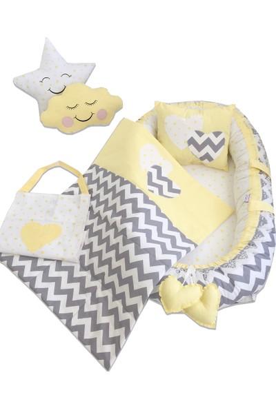 Modastra Gri ve Sarı Model Babynest Bebek Yuvası Takımı