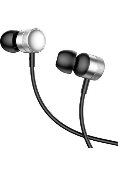 Baseus NGH04-0S Encok H04 Kablolu Kulakiçi Mikrofonlu Kulaklık - Gümüş