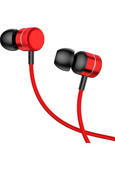 Baseus NGH04-09 Encok H04 Kablolu Kulakiçi Mikrofonlu Kulaklık - Kırmızı