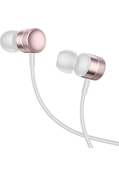 Baseus NGH04-0R Encok H04 Kablolu Kulakiçi Mikrofonlu Kulaklık - Rose Gold