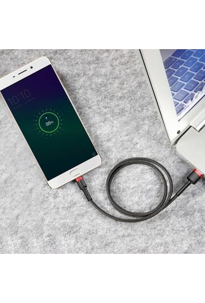 Baseus CAMKLF-A91 Cafule Micro USB 2.4A Data ve Şarj Kablosu 0.5m - Kırmızı - Siyah