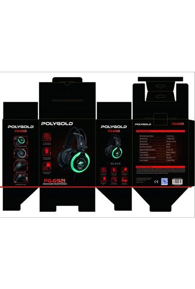 Polygold USB Gaming Mikrofonlu Oyuncu Kulaklığı Rgb 3.5 mm Jack PG 6921