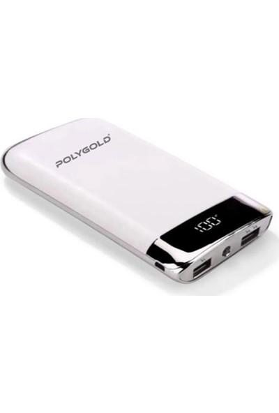 Polygold Powerbank 2.1 Amper Pro Fast Quality Charge Led Ekranlı 10.000mAh PG 7063