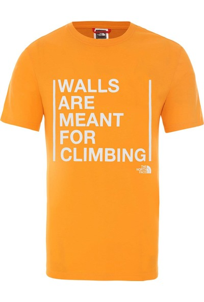 The North Face Walls Are For Climbing Erkek T-Shirt - T93S3SECL