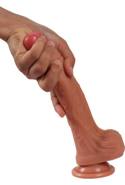 Xise Gerçekci Et Dokusunda Ekstra Yumuşak Gerçekci 20 cm Kemerli Penis