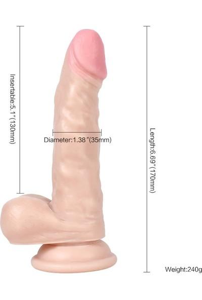 Xise Ten Rengi 17 cm Esnek Bükülebilen Belden Bağlamalı Penis + Jel