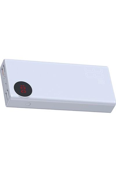 Baseus Mulight Quick 33W 30.000 mAh Taşınabilir Şarj Cihazı - Beyaz