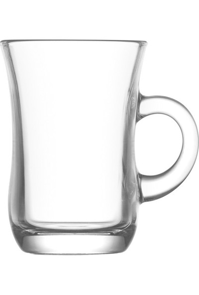 Lav Yudum Sade Kulplu Çay Fincanı 6'lı