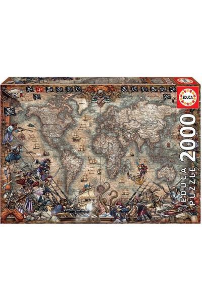 Educa Pirates Map 2000 Parça Puzzle NO.18008