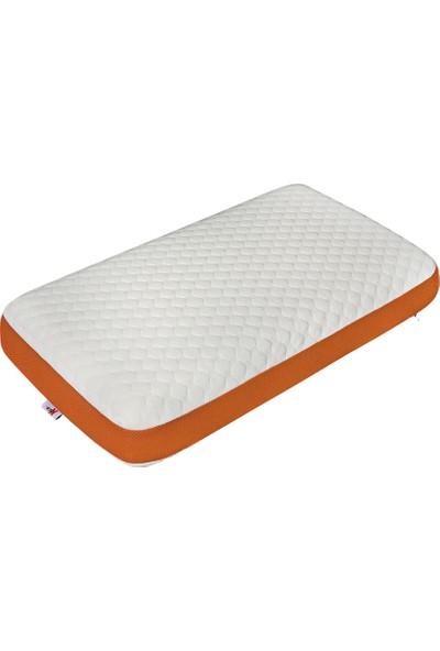 Kozzy Home Klimalı Visko Yastık 40 x 70 cm Turuncu