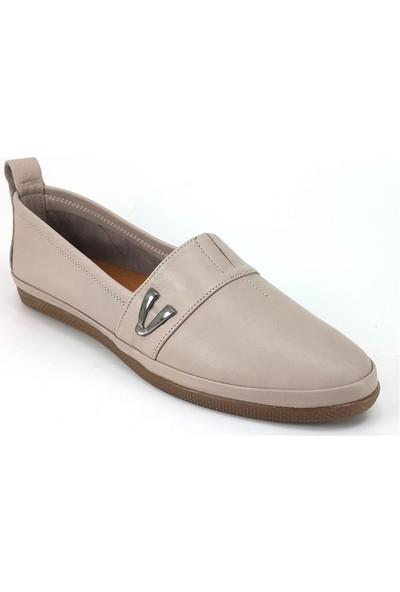 Estile 61 Günlük Kadın Ayakkabı Vizon