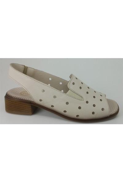 1215 Mammamia Günlük Kadın Sandalet Bej