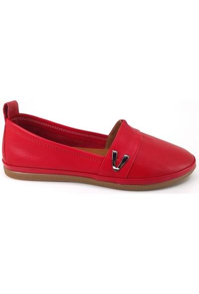 Estile 61 Günlük Kadın Ayakkabı Kırmızı