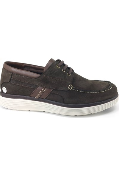 7545 Mammamia Günlük Erkek Ayakkabı Kahverengi Nubuk