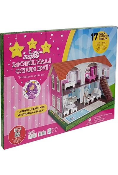 Arnas Toys 3 Boyutlu Maket Mobilyalı Oyun Evi - 17 Parça