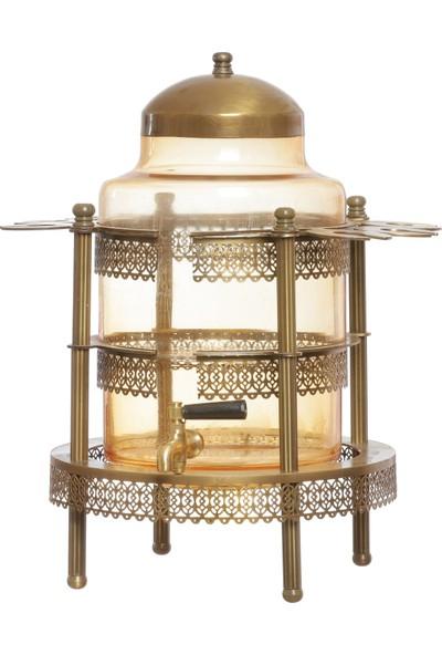 Gündüz Metal Kubbe Bardaklıklı Altın Cam Sebil