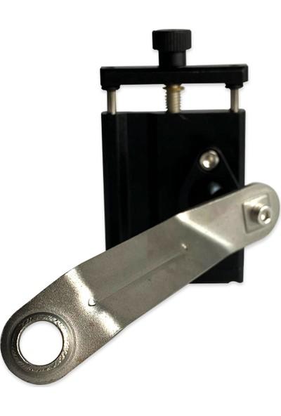 Knmaster Alüminyum Gövdeli Motosiklet Telefon Tutucu Ayna Bağlantılı