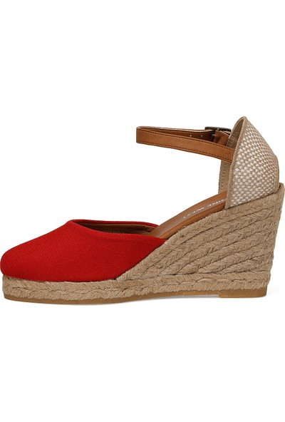 Nine West Artemısıa Kırmızı Kadın Dolgu Topuk Sandalet