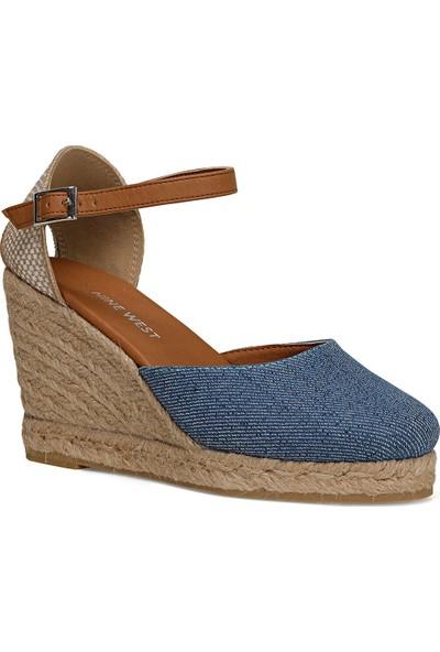 Nine West Berthe Mavi Kadın Dolgu Topuk Sandalet