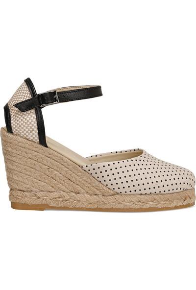 Nine West Kahlo Bej Kadın Dolgu Topuk Sandalet