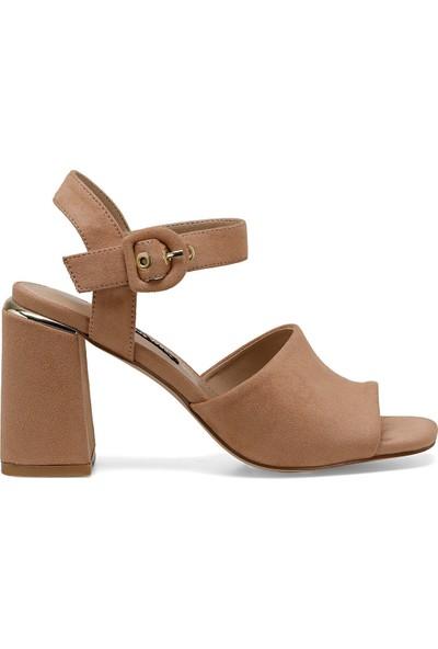 Nine West Lonella Naturel Kadın Topuklu Sandalet