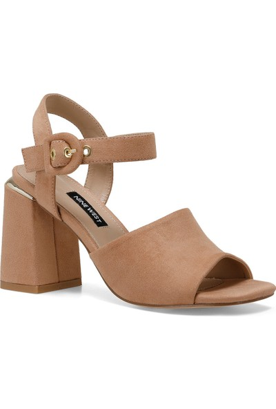 Nine West Lonella Naturel Kadın Topuklu Sandalet