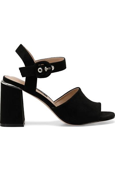 Nine West Lonella Siyah Kadın Topuklu Sandalet