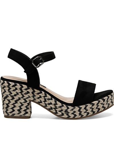 Nine West Norına Siyah Kadın Dolgu Topuk Sandalet