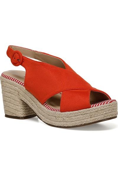 Nine West Normına Turuncu Kadın Dolgu Topuk Sandalet