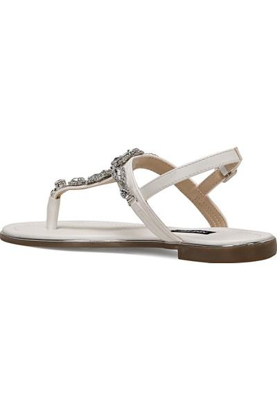 Nine West Zulı Beyaz Kadın Sandalet