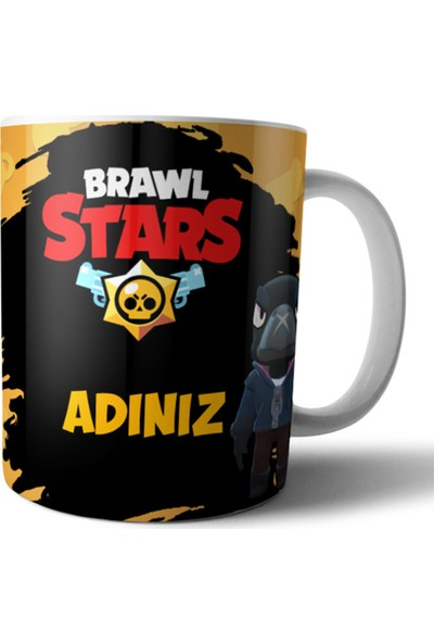 Pixxa Brawl Stars Crow Kişiye Özel Isimli Kupa Bardak Model 1