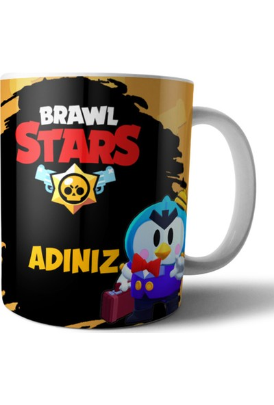 Pixxa Brawl Stars Mr. P Kişiye Özel Isimli Kupa Bardak Model 1