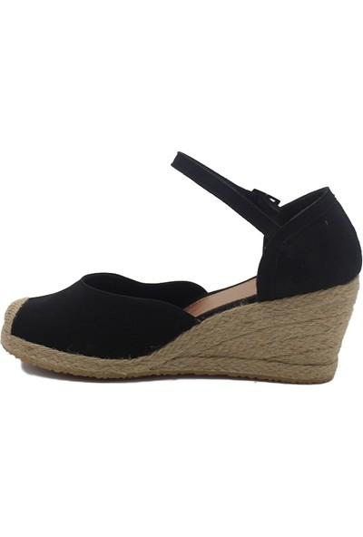 Gökçe Kundura Keten Hasır Sandalet 36
