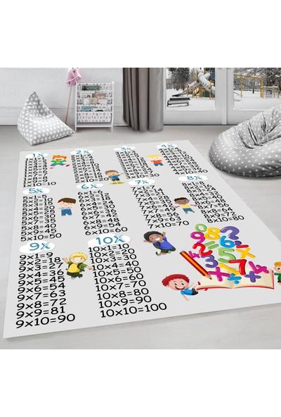 Evdemio Dekoratif Çocuk Odası Halısı Kaymaz Taban Hp-674
