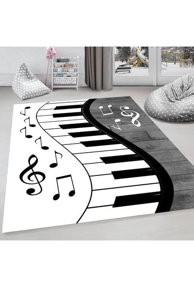 Evdemio Dekoratif Çocuk Odası Halısı Piano Hp-743