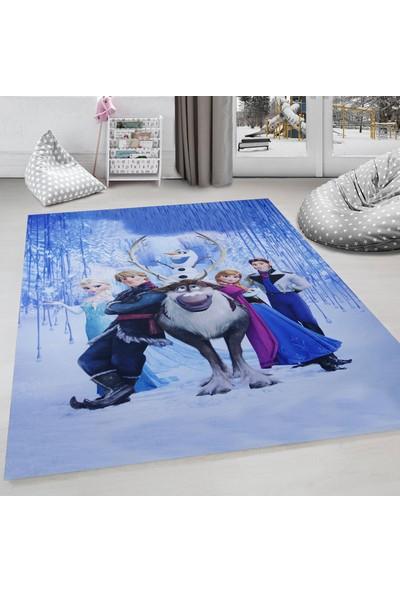 Evdemio Makinada Yıkanabilir Frozen Çocuk Halısı Elsa Hp-773