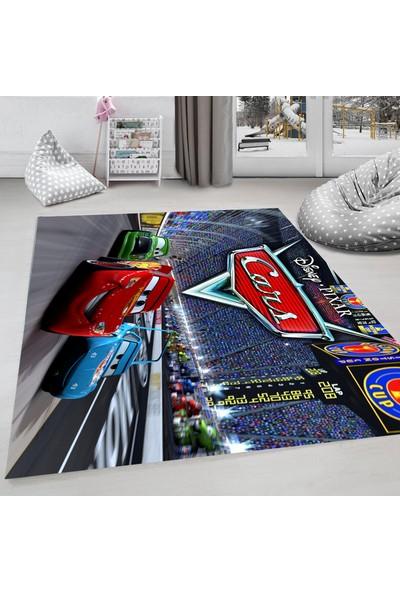Evdemio Arabalı Çocuk Odası Halısı Şimşek Mcqueen Hp-779