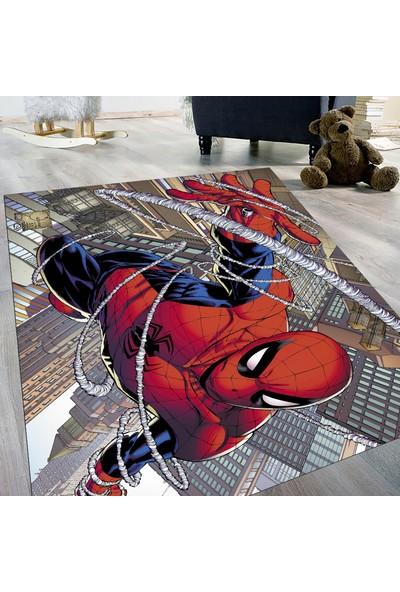 Evdemio Makinada Yıkanabilir Çocuk Halısı Spider Man Hp-783