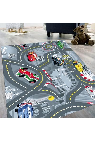 Evdemio Yıkanabilir Trafik Yollu Eğitici Oyun Halısı Hp-795