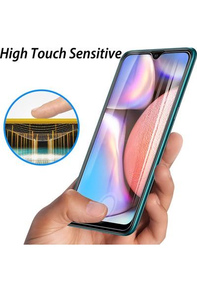Case 4U Samsung Galaxy A10S Cam Ekran Koruyucu Blue Nano Şeffaf