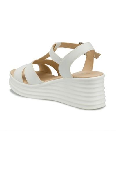 Polaris 315698.Z Beyaz Kadın Sandalet