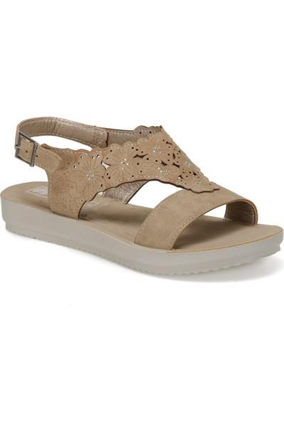 Bm000039 Bej Kadın Basic Comfort Sandalet